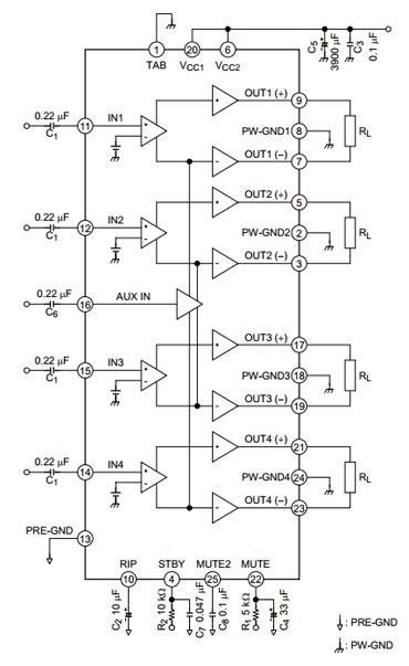 Ta8275hq схема подключения