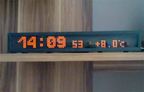это проект матричных часов