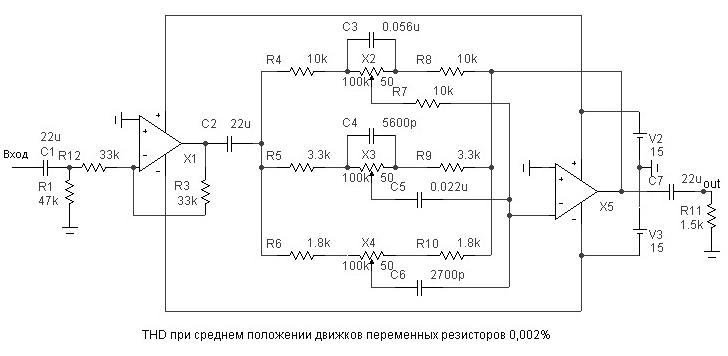 СЧ-ВЧ частотах, среднего