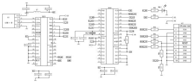Схема программатора: