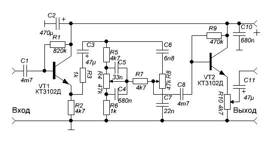 схемы темброблоков для электрогитары